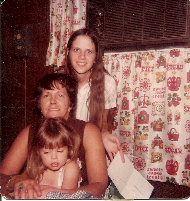 Amy Lyon Smith with her grandma and mother