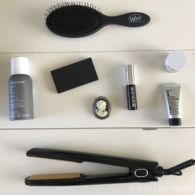 Carry On toiletry flatlay