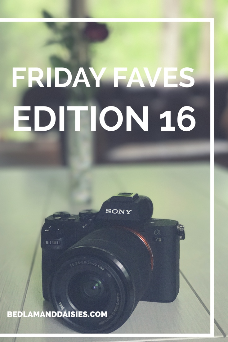 Friday Faves Edition 16