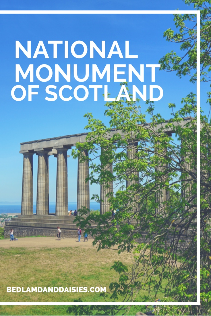 National Monument of Scotland on Calton Hill in Edinburgh, Scotland